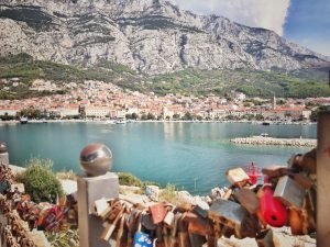 Makarska Love Locks mit Promenade